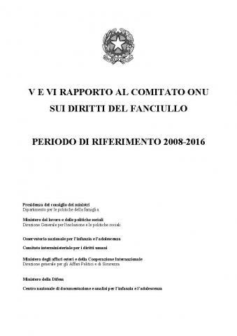 V e VI Rapporto all'ONU